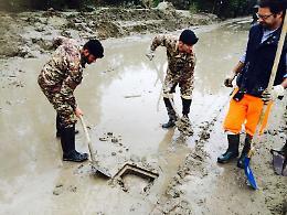 Alluvione, i genieri di Cremona in azione ad Alessandria