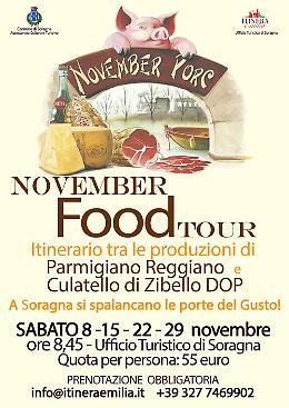 November Food Tour a Soragna 8, 15, 22, 29 novembre