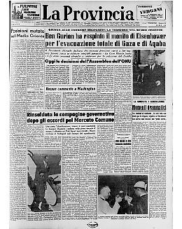 Ben Gurion ha respinto il monito di Eisenhower per l'evacuazione totale di Gaza e di  Aqaba