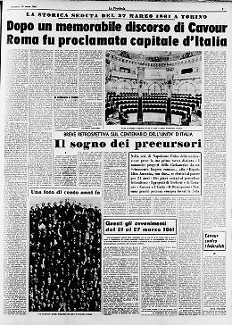 Il quotidiano ''La Provincia'' celebra il centenario dell'unità d'Italia