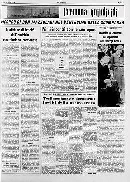 Il ricordo di don Primo Mazzolari nella pagina a cura di don Carlo Bellò