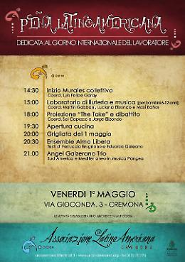 Cremona. La Peña Latinoamericana dedicata alla Festa del Lavoro