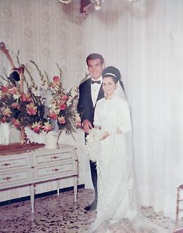 La festa per il 50° anniversario di matrimonio di Laila e Benito Penna