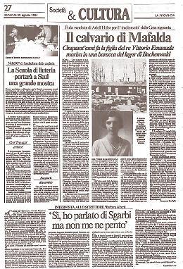 Il tragico destino di Mafalda di Savoia: internata a Buchenwald per volere di Hitler
