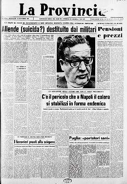 L'altro 11 settembre: attacco al Palacio de la Moneda di Santiago del Cile