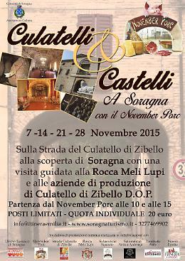 """""""Culatelli e Castelli"""" a Soragna con il November Porc"""