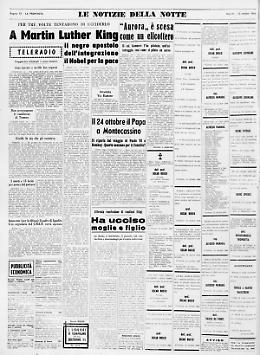 A Martin Luther King il Premio Nobel per la pace