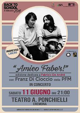 BACK TO SCHOOL 2016 - con Franz di Cioccio della PFM