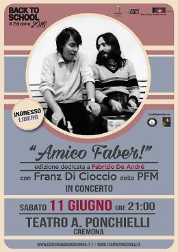 Franz di Cioccio (PFM) & Back to School! al Teatro Ponchielli di Cremona