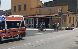 Schianto tra moto e scooter: ferito un 32enne di Cremona