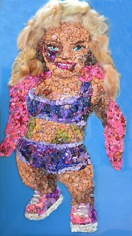 """Milano. """"Giornata Internazionale della Violenza Sulle Donne"""" le Barbie Tumefatte di Lady Be"""