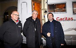 Caritas cremonese operativa con il campo base solidale