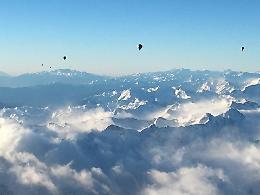 Le immagini scattate durante il viaggio in mongolfiera da Hannover al Casalasco