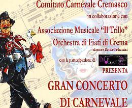 Crema. Il concerto di carnevale al San Domenico venerdì 3 febbraio