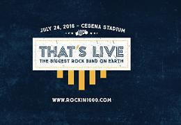 """# 4 """"That's Live – The Biggest Rock Band On Earth"""" di Rockin'1000"""