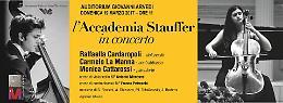 L'Accademia Stauffer in concerto Raffaella Cardaropoli - violoncello, Carmelo La Manna - contrabbasso e Monica Cattarossi - pianoforte