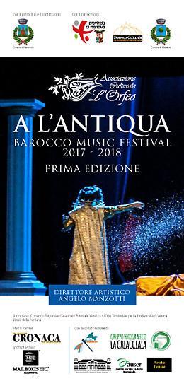 A L'Antiqua –Barocco Music Festival 2017 -2018