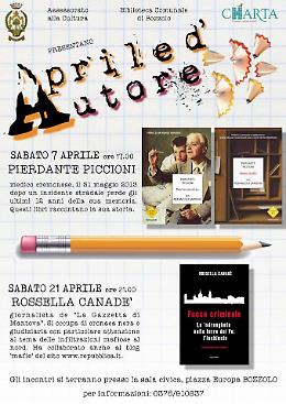 Aprile d'autore, incontri con Piccioni (7 aprile) e Canadè (21 aprile)