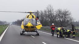 FOTO L'incidente mortale tra due camion tra Cremona e Pontevico