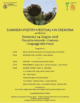 Summer Poetry festival in Cremona