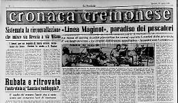 «Linea Maginot», paradiso dei pescatori