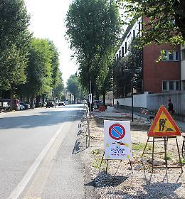 Viale Trento e Trieste, il cantiere della ciclabile entra nel vivo