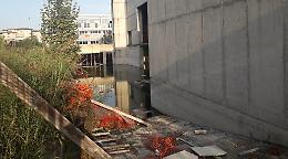Ex scuola di Cl, reti a pezzi e nei sotterranei si forma un lago