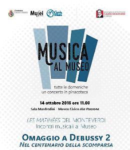 Domenica 14 ottobre seconda parte dell'omaggio a Debussy