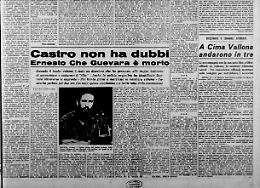 Castro non ha dubbi Ernesto Che Guevara è morto