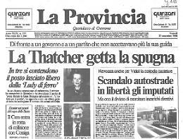 La Thatcher getta la spugna