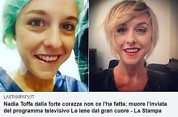 Un fake dà per morta Nadia Toffa, lei smentisce