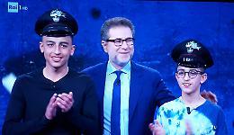 I bambini eroi Ramy e Adam in tv a Che tempo che fa