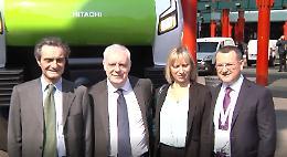 Regione, presentato il modello del nuovo treno Caravaggio