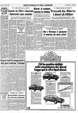 Trovati da «Stern» i diari di Hitler