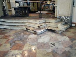 Incendio, brucia un organo: danni al santuario della Misericordia