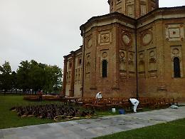 FOTO L'incendio al santuario della Misericordia a Castelleone