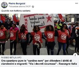 Post sulle 'sardine nere', Burgazzi nella bufera