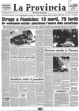 Strage a Fiumicino: 13 morti, 75 feriti