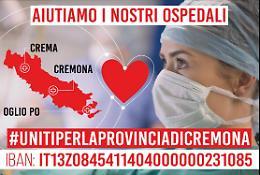 Uniti per la provincia di Cremona: già raccolti più di 800 mila euro, ecco come saranno spesi
