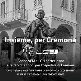 Aem Cremona e LGH sostengono Uniti per la provincia di Cremona