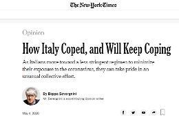 Il Coronavirus a Crema raccontato da Severgnini sul New York Times