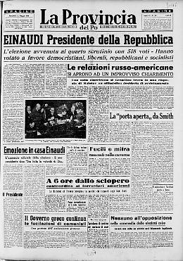 Einaudi Presidente della Repubblica