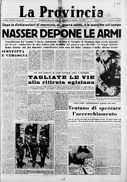 Nasser depone le armi