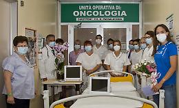 Sveva Gerevini campionessa di solidarietà: ecco i monitor per Oncologia