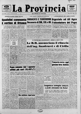 Ergastolo ad Ali Agca, attentatore del Papa