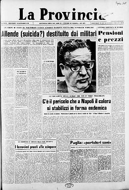 Allende (suicida?) destituito dai militari