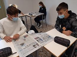 FOTO La Provincia al liceo Vida di Cremona