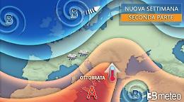 Piogge su parte del Nord, Ottobrata in arrivo al Centro Sud
