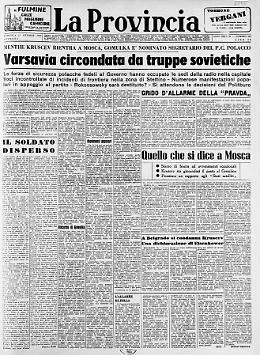 Varsavia circondata da truppe sovietiche Il soldato disperso