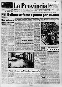 Nel Bellunese fame e paura per 70.000